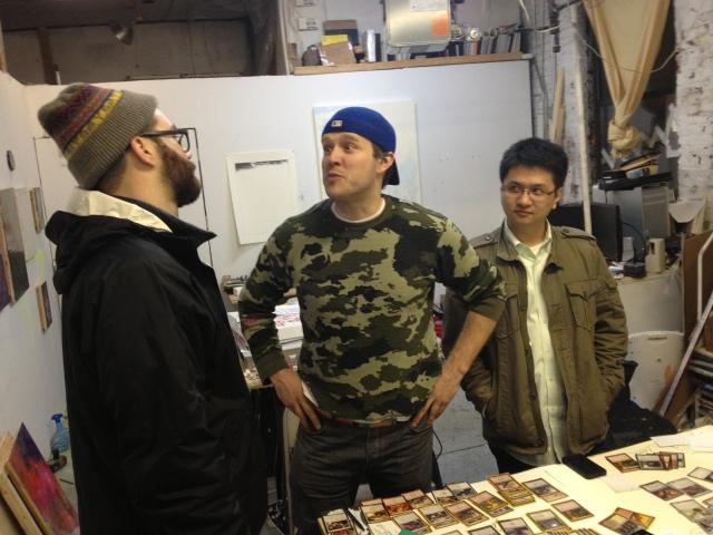 Matt and Li talking to Some Nice Art Dude.
